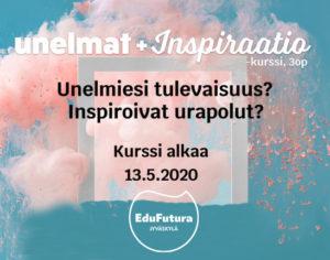 EduFutura-yrittäjyysopinnot Unelmat+inspriraatiokurssin mainoskuva.