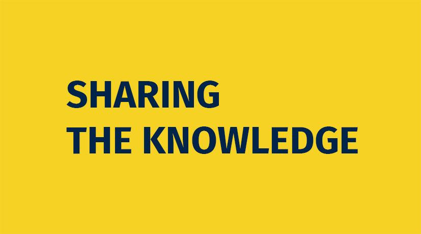 EduFutura slogan Sharing the Knowledge. Tapahtumakalenterin tausta.