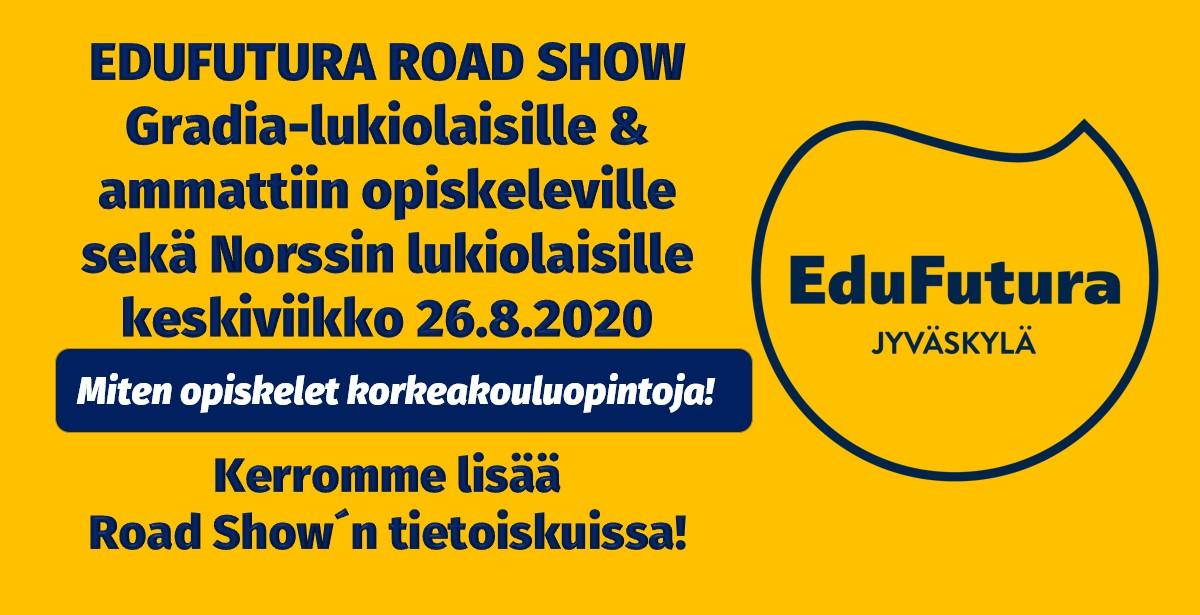 EduFutura Road Show´n mainos.